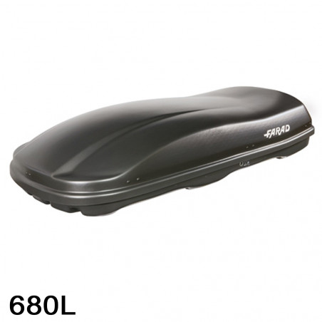 Coffre de toit Marlin 680 Litres Noir