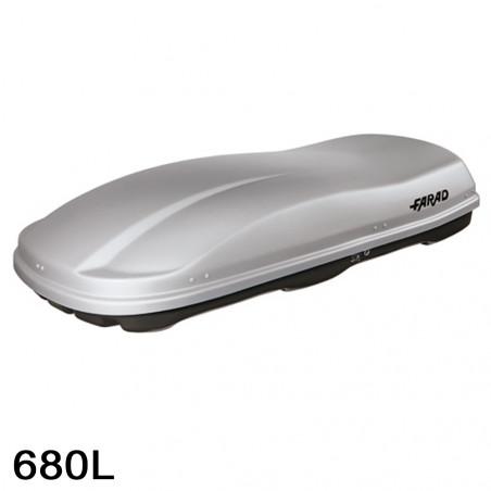 Coffre de toit Marlin 680 Litres Gris
