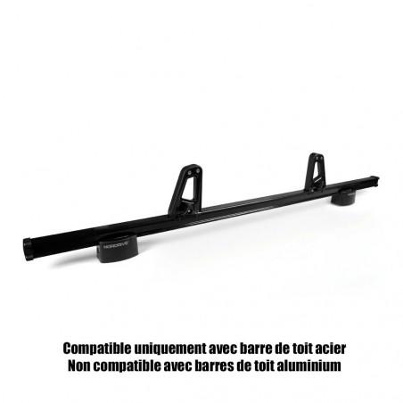 Arretoirs 11 cm pour barres de toit ACIER