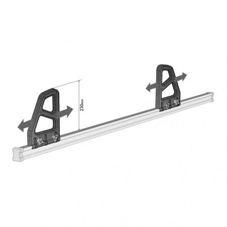 Arretoirs 23 cm pour barres de toit ACIER