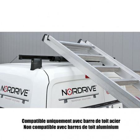 Rouleau de chargement 64cm pour barres de toit ACIER   - S'adapte sur les barres de toit Nordrive Acier