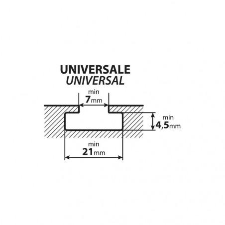 Arretoirs 10 cm pour barres de toit Aluminium